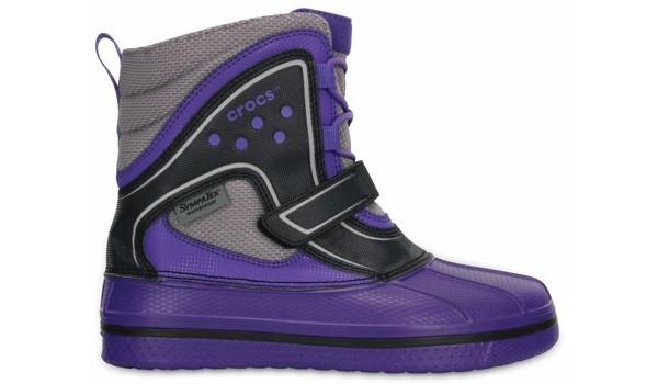 Kids AllCast Waterproof Boot, Light Grey/Cerulean Blue 1
