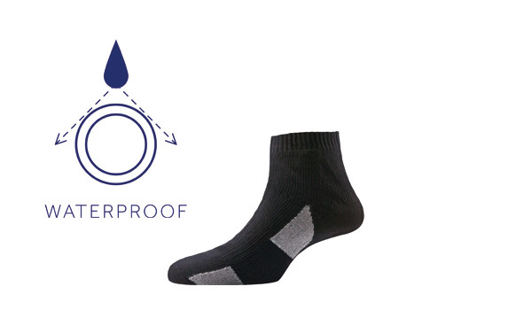 Thin Socklet, Black/Grey 1