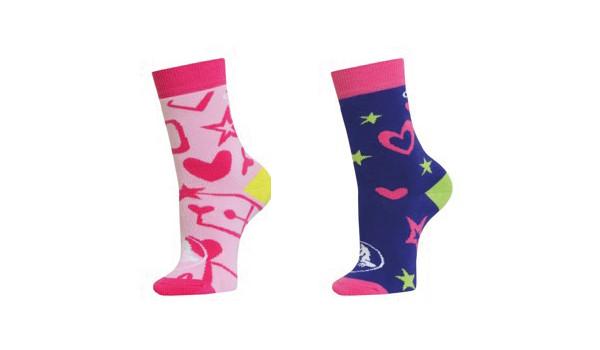 Crocs Socks Back to School Girls 2er-Pack, Pink/Purple 1