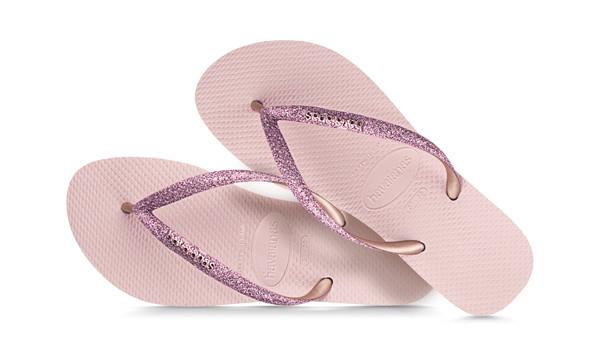 Slim Glitter Flip, Ballet Rose 1