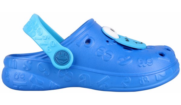 Kids Hoppa Clog, Light Grey/Cerulean Blue 1