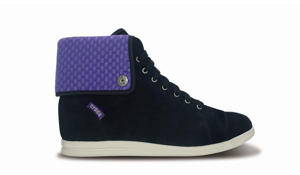 LoPro Suede HiTop Sneaker, Black/Ultraviolet 1