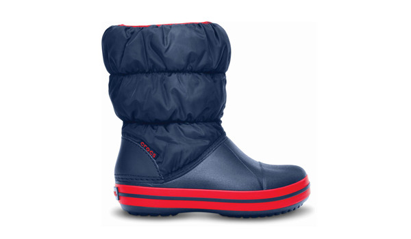 Kids Winter Puff Boot, Navy/Red 1