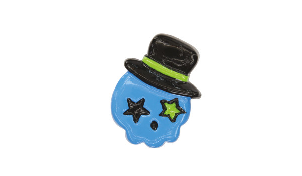 Charms Sneaker Blue Fedora Skull, Charms Sneaker Blue Fedora Skull