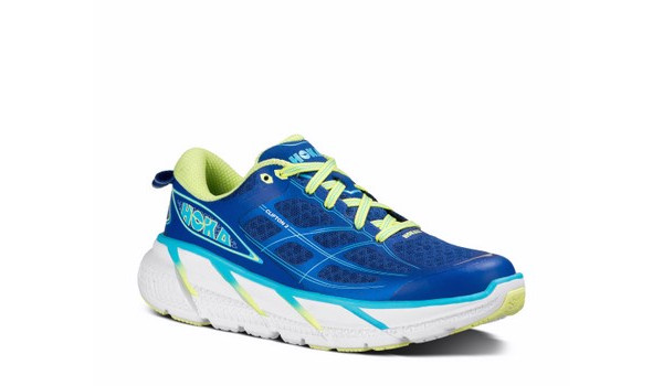 Clifton 2 Women, True Blue/Sunny Lime 5