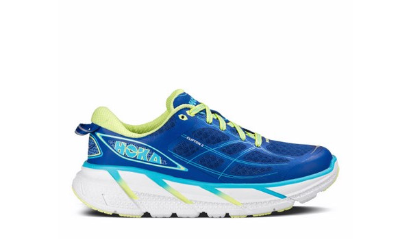 Clifton 2 Women, True Blue/Sunny Lime 1