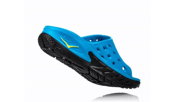 Ora Recovery Slide Men, Black/Process Blue 2