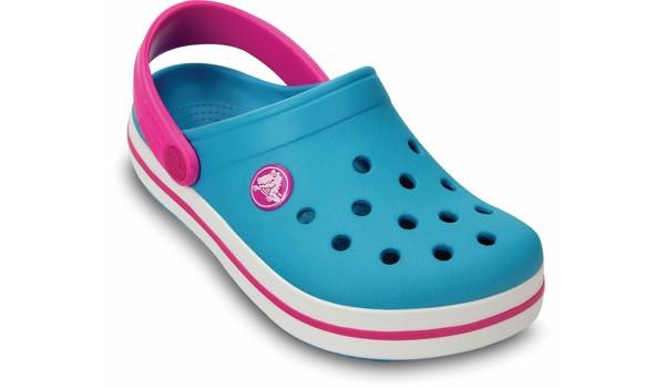 Kids Crocband, Surf/Neon Magenta 5