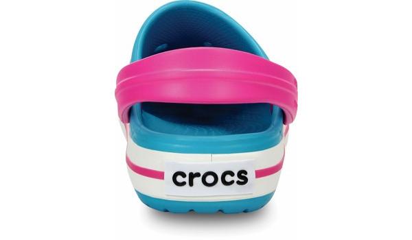 Kids Crocband, Surf/Neon Magenta 2