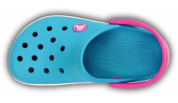 Kids Crocband, Surf/Neon Magenta 6