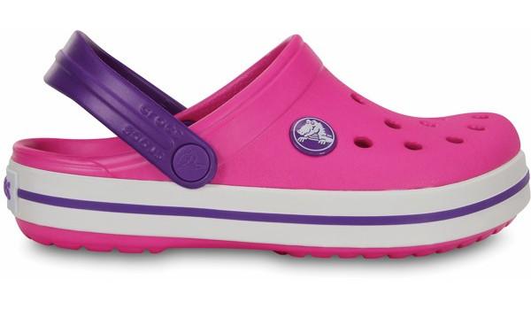Kids Crocband White, Neon Magenta/Neon Purple 1