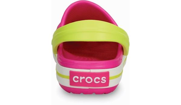 Kids Crocband, Neon Magenta/Citrus 2