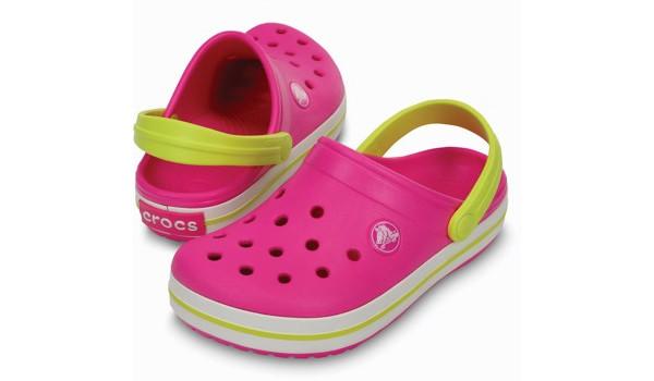 Kids Crocband, Neon Magenta/Citrus 4