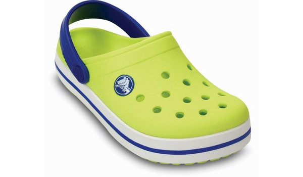 Kids Crocband, Citrus/Sea Blue 5