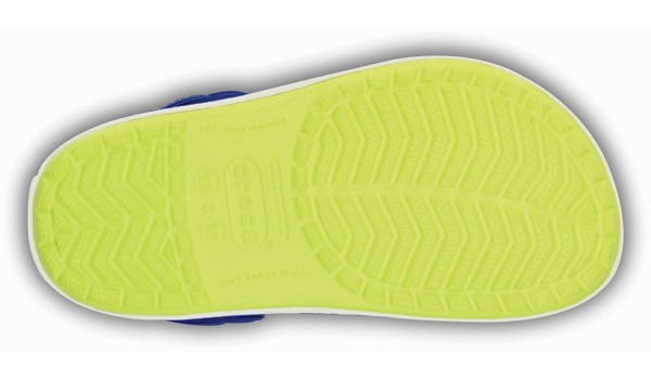 Kids Crocband, Citrus/Sea Blue 3
