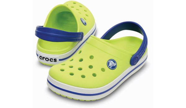 Kids Crocband, Citrus/Sea Blue 4