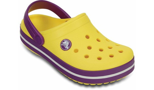 Kids Crocband, Sunshine/Amethyst 5