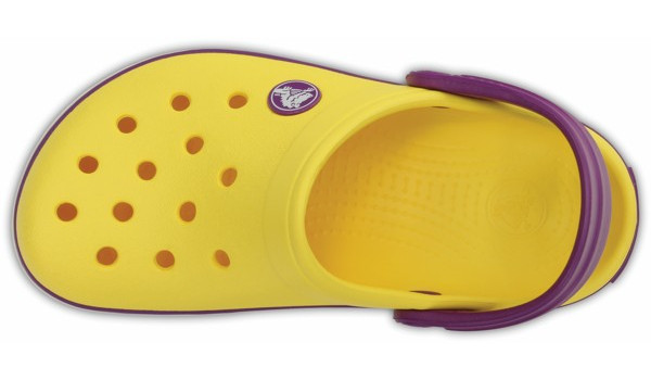 Kids Crocband, Sunshine/Amethyst 6