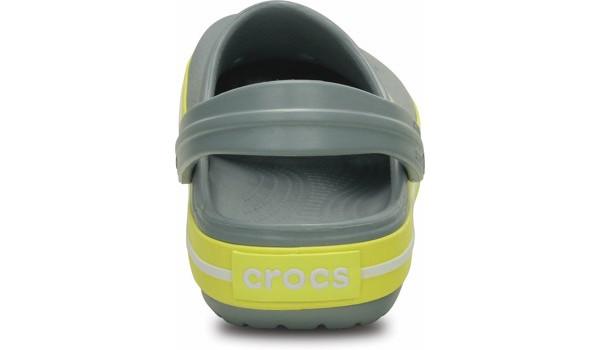 Kids Crocband White, Concrete/Chartreuse 2