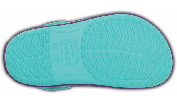Kids Crocband, Pool/Neon Purple 3