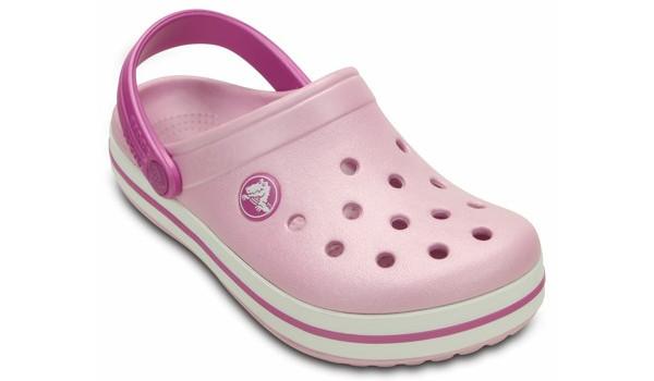Kids Crocband White, Ballerina Pink/Wild Orchid 5