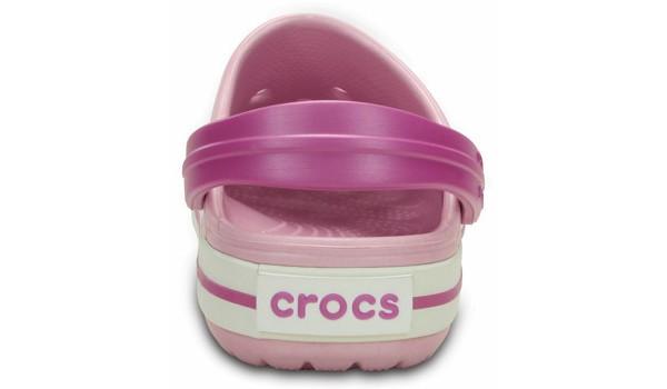 Kids Crocband White, Ballerina Pink/Wild Orchid 2