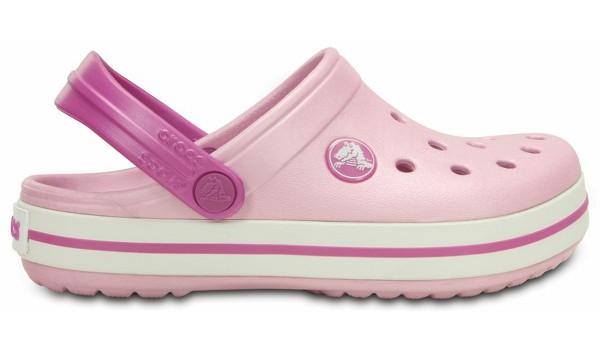 Kids Crocband White, Ballerina Pink/Wild Orchid 1