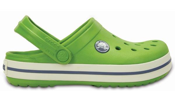Kids Crocband White, Parrot Green/White 1