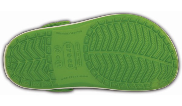 Kids Crocband, Parrot Green/White 3