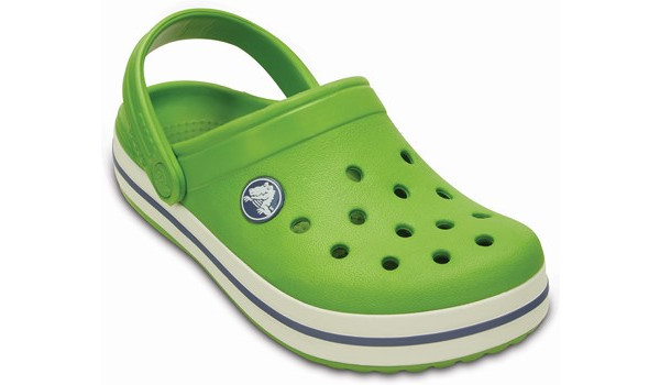 Kids Crocband, Parrot Green/White 5