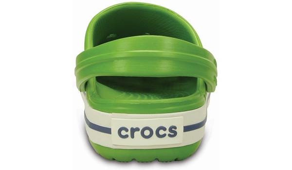 Kids Crocband White, Parrot Green/White 2