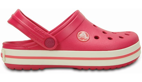 Kids Crocband, Raspberry/White 1