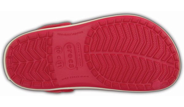 Kids Crocband, Raspberry/White 3