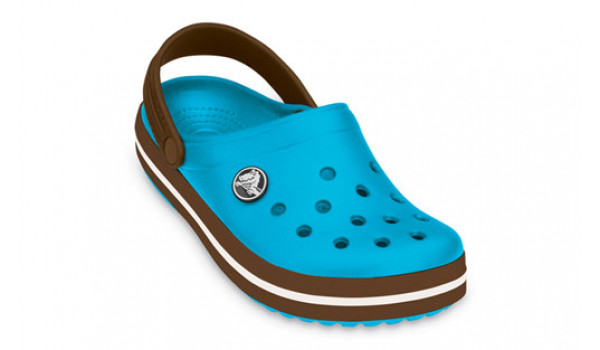 Kids Crocband, Electric Blue/Brown 6