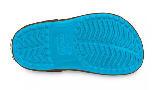 Kids Crocband, Electric Blue/Brown 3