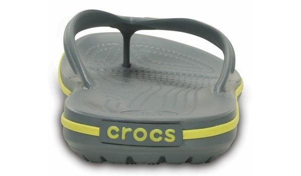 Crocband Flip, Concrete/Chartreuse 2