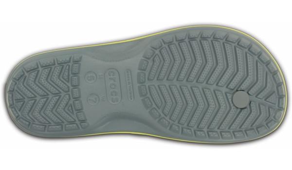 Crocband Flip, Concrete/Chartreuse 3