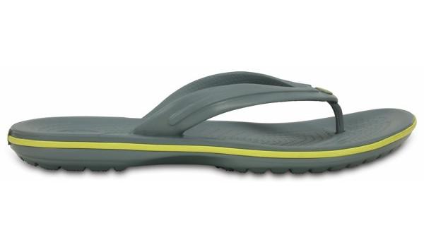 Crocband Flip, Concrete/Chartreuse 1