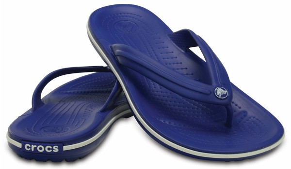 Crocband Flip, Cerulean Blue/White 4