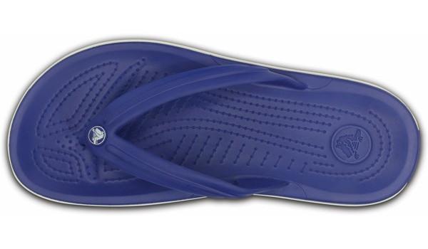 Crocband Flip, Cerulean Blue/White 6
