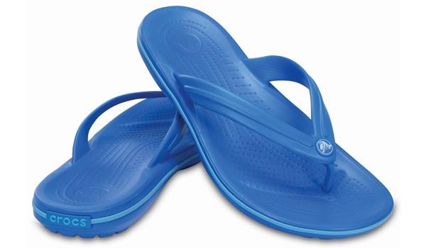 Crocband Flip, Ocean/Electric Blue 4
