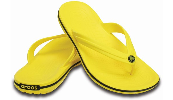 Crocband Flip, Lemon/Black 4