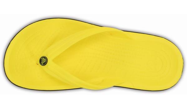 Crocband Flip, Lemon/Black 6