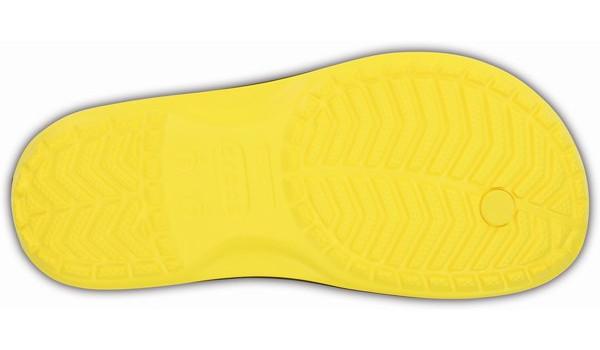 Crocband Flip, Lemon/Black 3