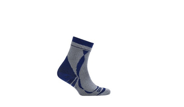 Thin Ankle Length Sock, Grey/Blue 4