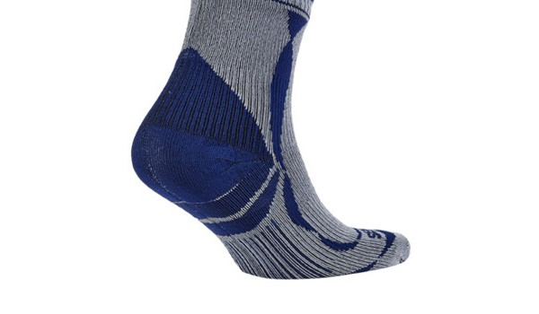 Thin Ankle Length Sock, Grey/Blue 3