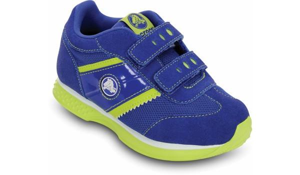 Kids Retro Sprint Sneaker, CeruleanBlue/Citrus 5