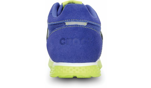 Kids Retro Sprint Sneaker, CeruleanBlue/Citrus 2