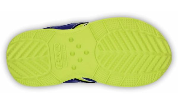Kids Retro Sprint Sneaker, CeruleanBlue/Citrus 3