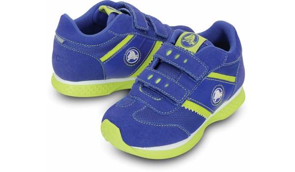 Kids Retro Sprint Sneaker, CeruleanBlue/Citrus 4